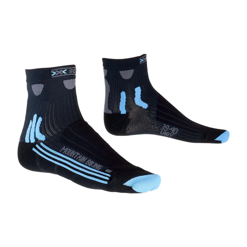 Фото 1 - Женские носки X-Socks® Mountain Biking Lady, Цвет: Black/Sky Blue