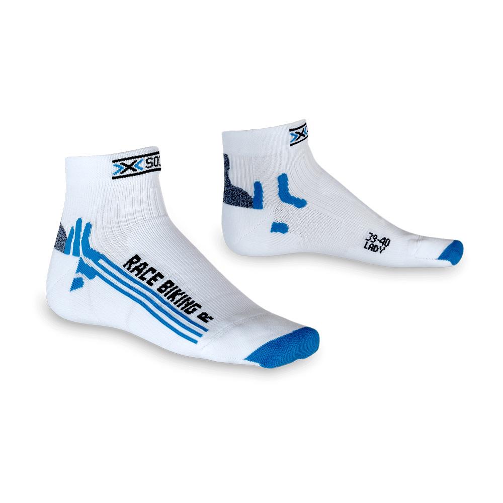 Фото 1 - Женские носки X-Socks® Bike Racing Lady, Цвет: White/Light Blue
