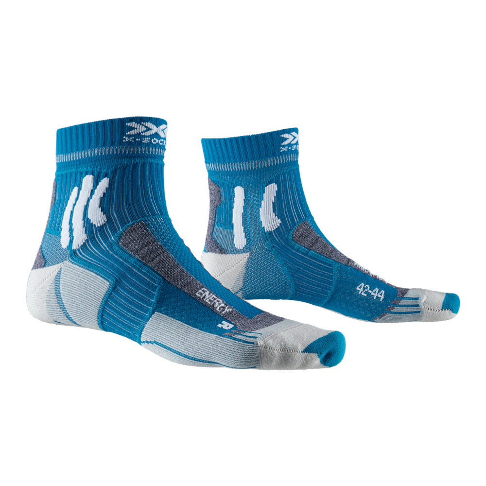 Фото 1 - Носки X-Socks® Marathon Energy, Цвет: Teal Blue / Arctic White