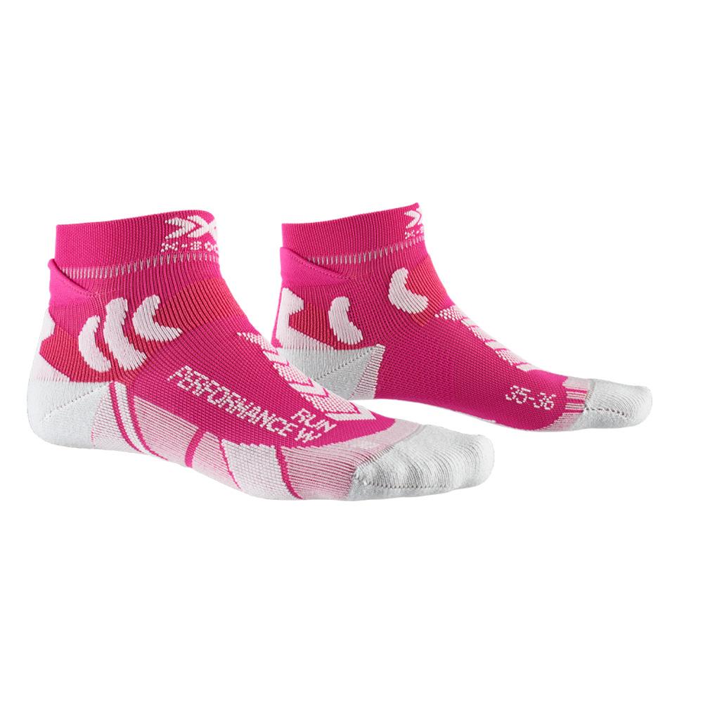 Фото 1 - Женские носки X-SOCKS Run Performance, Цвет: Flamingo Pink/Pearl Grey