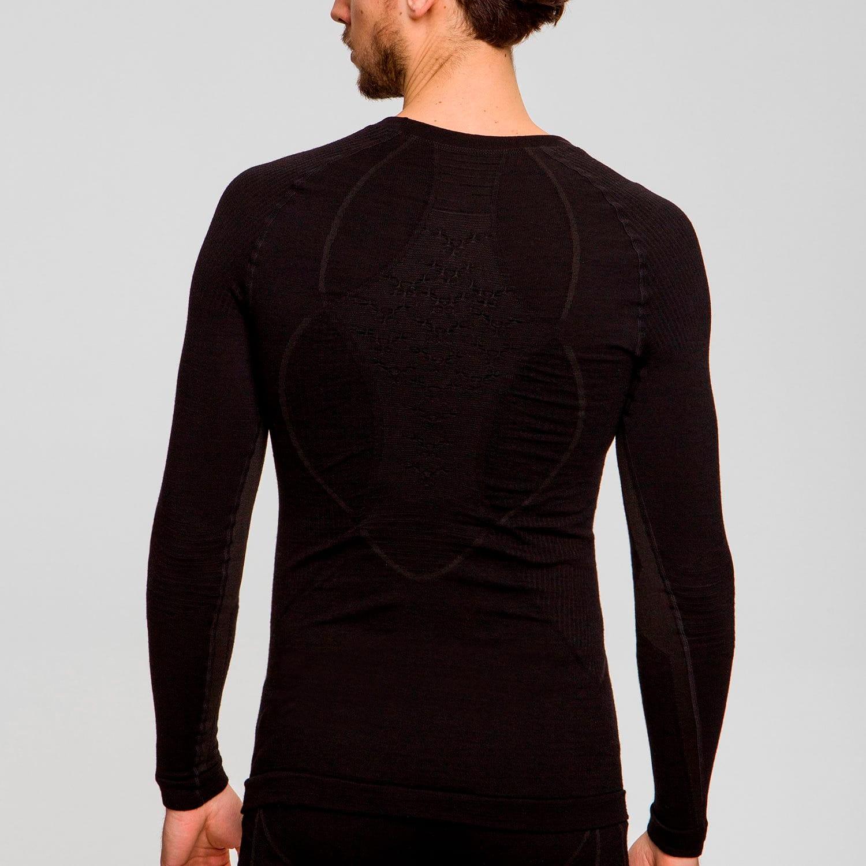 Фото 4 - Мужская терморубашка X-BIONIC® Apani® Merino 4.0, Цвет: Black/Black