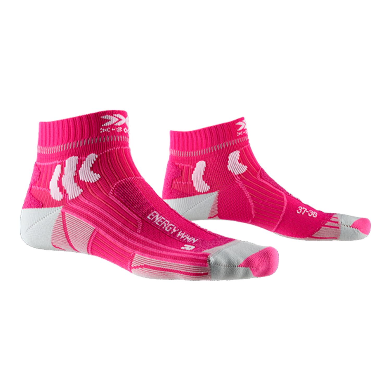 Женские носки X-Socks® Marathon Energy 4.0, Цвет: Flamingo Pink/Arctic White