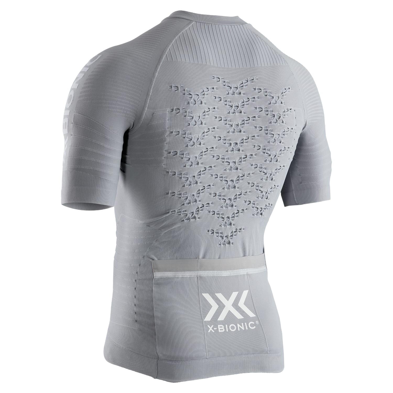 Фото 2 - Мужская велофутболка X-Bionic® Effektor 4.0 Cycling, Цвет: Dolomite Grey/Arctic White