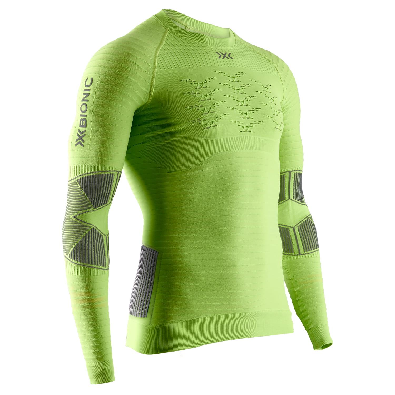 Фото 1 - Мужская футболка с длинным рукавом X-Bionic® Effektor 4.0 Running, Цвет: Effektor Green/Anthracite