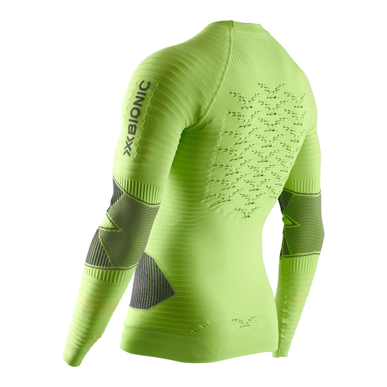 Фото 2 - Мужская футболка с длинным рукавом X-Bionic® Effektor 4.0 Running, Цвет: Effektor Green/Anthracite