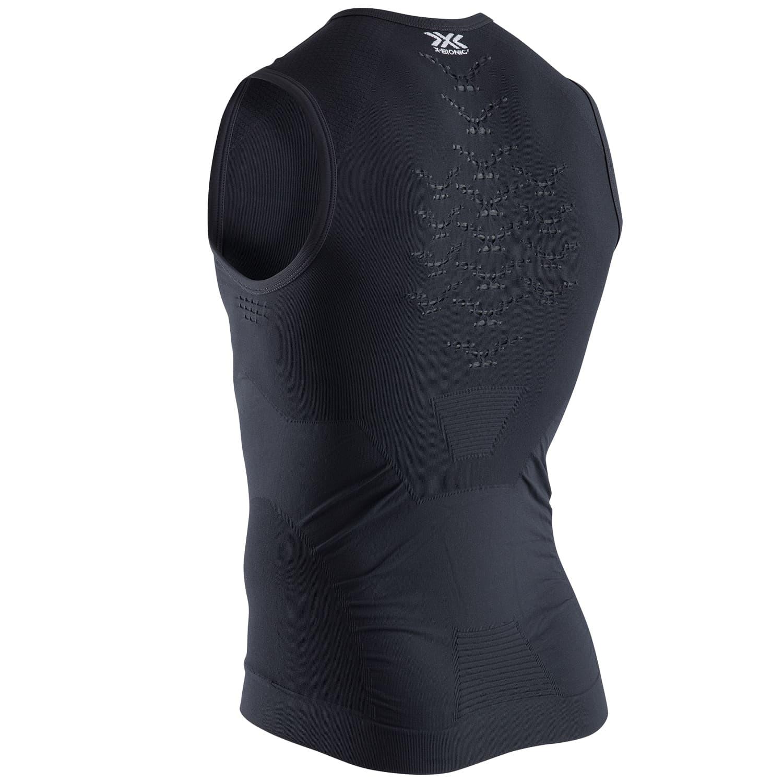 Фото 2 - Мужская футболка без рукавов X-Bionic® Energizer® 4.0, Цвет: Opal Black/Arctic White