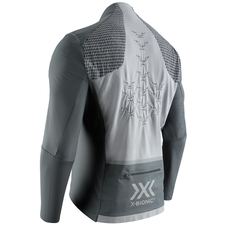Фото 2 – Мужская велокуртка X-Bionic® Rainsphere 4.0, Цвет:  B023 – Charcoal/Phyton Yellow