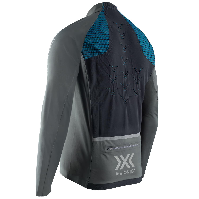 Фото 2 - Мужская куртка X-BIONIC® Rainsphere 4.0 Running, Цвет: G081 – Charcoal/Blue