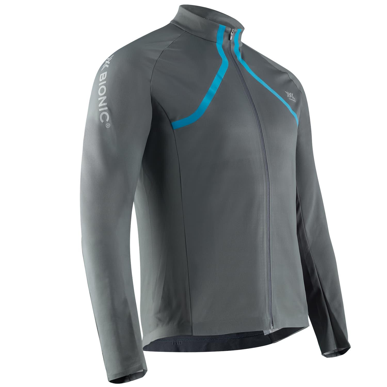 Фото 1 - Мужская куртка X-BIONIC® Rainsphere 4.0 Running, Цвет: G081 – Charcoal/Blue, Размер : M