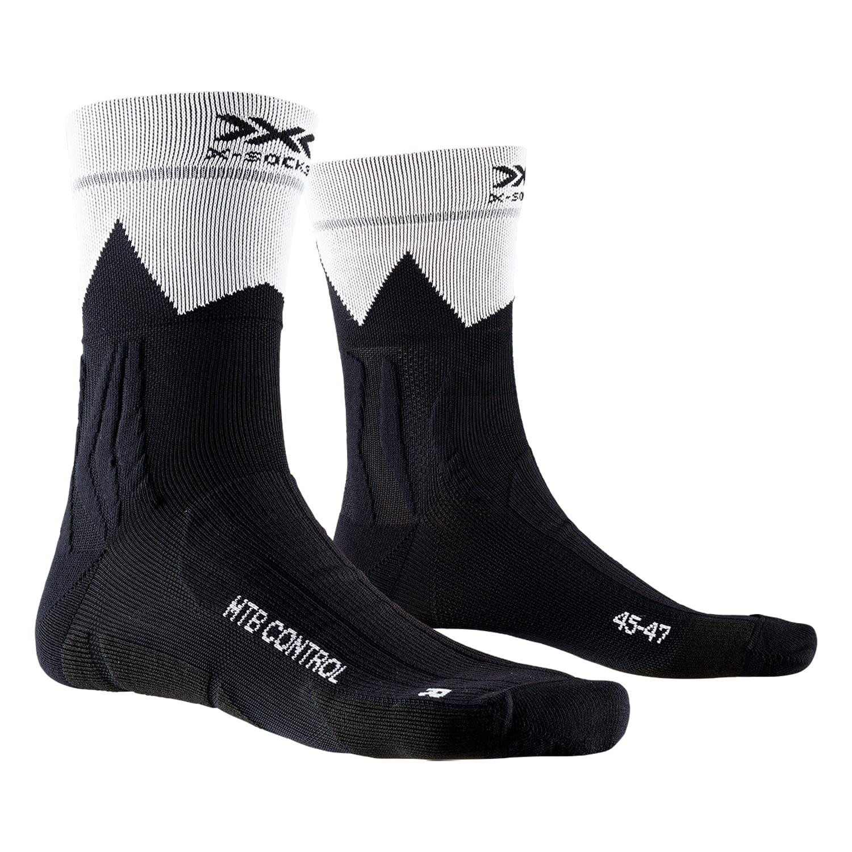 Фото 1 - Носки X-SOCKS® MTB Control 4.0, Цвет: B014 – Opal Black/ZigZag