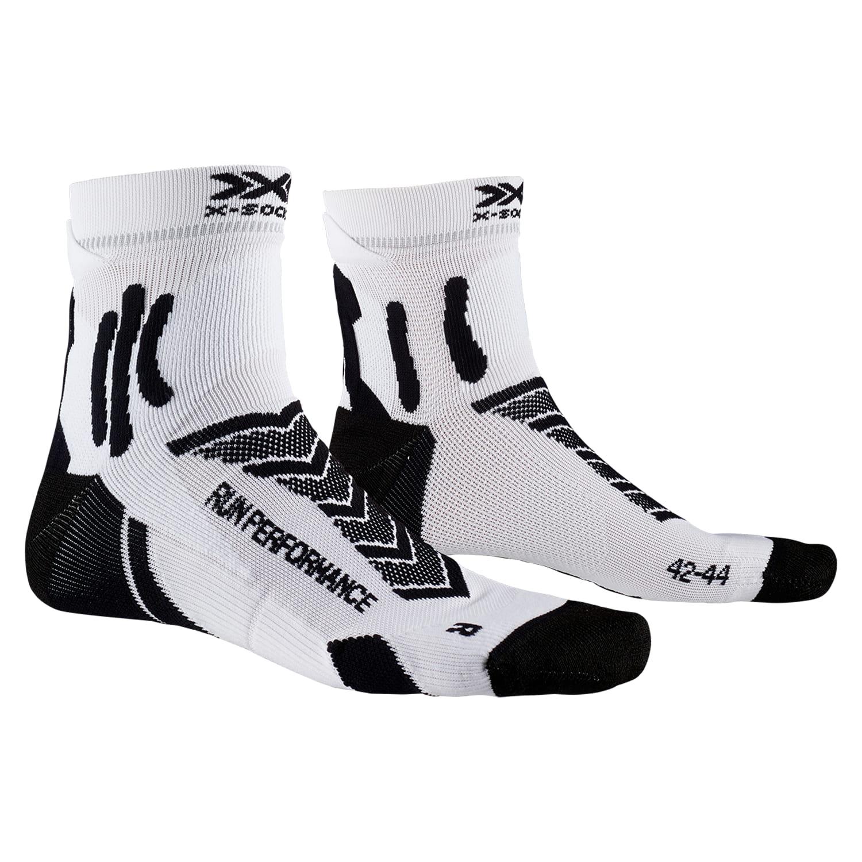 Фото 1 – Носки X-SOCKS® Run Performance 4.0, Цвет: B002 – Opal Black/Arctic White