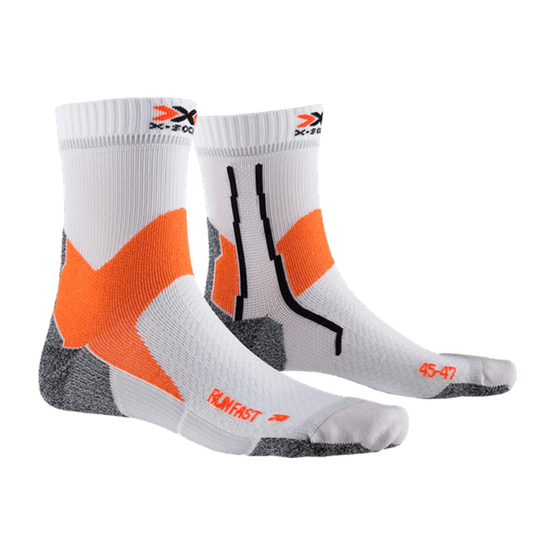 Фото 1 - Носки X-Socks® Run Fast, Цвет: Arctic White / Sunset Orange