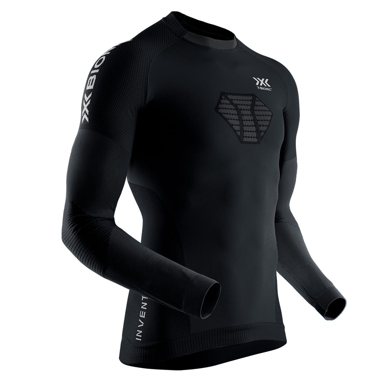 Мужская термокофта  X-BIONIC® Invent® 4.0 Run Speed,Цвет: Black/Charcoal