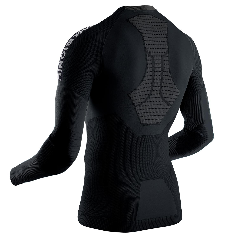 Фото 2- Мужская термокофта  X-BIONIC® Invent® 4.0 Run Speed,Цвет: Black/Charcoal