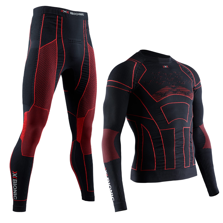 Фото 1 - Мужской комплект X-BIONIC® Moto Energizer™ 4.0, Цвет : Opal Black/Signal Red