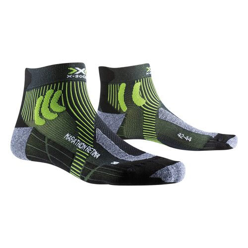 Фото 1 - Носки X-SOCKS® Marathon Retina, Цвет: Black Melange/Effektor Green